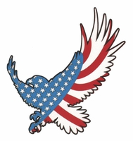 American Flag Eagle Lasier Die Cut