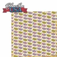 Americana: Bless the USA 2 Piece Laser Die Cut Kit