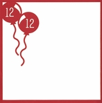 And Many More: Custom Birthday Balloons 12 x 12 Overlay Laser Die Cut
