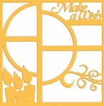And Many More: Make A Wish Birthday 12 x 12 Overlay Laser Die Cut