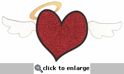 Angel Heart Glitter Laser Die Cut