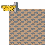 Animal Adventures: Hungry Hippo 2 Piece Laser Die Cut Kit