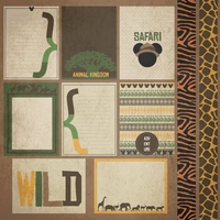 Animal Kingdom: AK Journal cards and Elements 12 x 12 Paper
