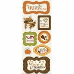 Apple Cider: Warm Memories Chipboard Stickers