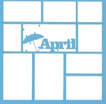 April 12 x 12 Overlay Laser Die Cut