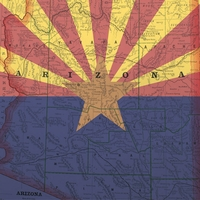 Arizona: Map and Flag 12 x 12 Paper