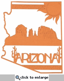 Arizona Outline With Images Laser Die Cut