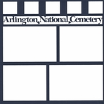 Arlington National Cemetery 12 x 12 Overlay Laser Die Cut