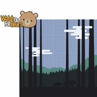 Around The Fire: Watch For Bears 2 Piece Laser Die Cut Kit