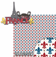 Around The World: France 2 Piece Laser Die Cut Kit