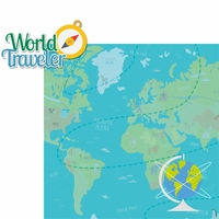 Around The World: World Traveler 2 Piece Laser Die Cut Kit