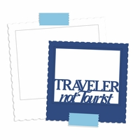 At The Airport: Traveler Not Tourist  Laser Die Cut