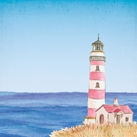 At The Seashore: Lighthouse 12 x 12 Paper