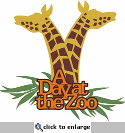 At The Zoo: A day at the Zoo Laser Die Cut