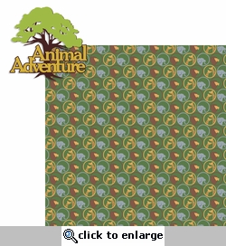 At The Zoo: Animal Adventure 2 Piece Laser Die Cut Kit