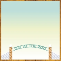 At The Zoo: Caution! Wild Animals 12 x 12 Paper