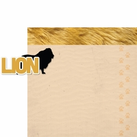 At The Zoo: Lion 2 Piece Laser Die Cut Kit