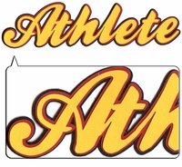 Athlete 3-Layer Laser Title Cut
