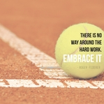 Athletic Affirmations: Tennis 12 x 12 Paper