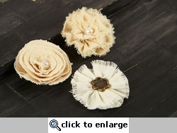 Au Natural Flowers with Decorative Middles