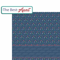 Aunt and Uncle: Best Aunt 2 Piece Laser Die Cut Kit