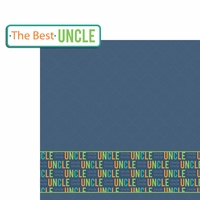 Aunt and Uncle: Best Uncle 2 Piece Laser Die Cut Kit