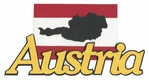 Austria With Flag Laser Die Cut