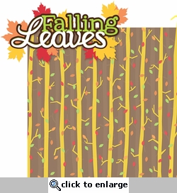 Autumn Glory: Falling Leaves 2 Piece Laser Die Cut Kit