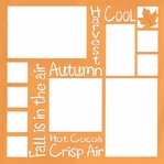 Autumn Words 12 x 12 Overlay Laser Die Cut