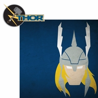 Avengers Assemble: Thor 2 Piece Laser Die Cut Kit