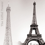 B&W: Eiffel Tower 12 x 12 Paper