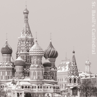 B&W: St. Basil's Cathedral 12 x 12 Paper