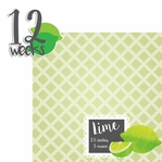 Baby Fruits: 12 Weeks Lime 2 Piece laser Die Cut Kit