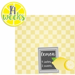 Baby Fruits: 14 Weeks Lemon 2 Piece laser Die Cut Kit