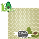 Baby Fruits: 16 Weeks Avacado 2 Piece laser Die Cut Kit
