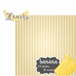 Baby Fruits: 20 Weeks Banana 2 Piece laser Die Cut Kit