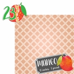 Baby Fruits: 23 Weeks Mango 2 Piece laser Die Cut Kit