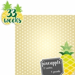 Baby Fruits: 33 Weeks Pineapple 2 Piece laser Die Cut Kit