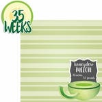 Baby Fruits: 35 Weeks Honeydew 2 Piece laser Die Cut Kit