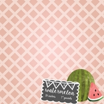 Baby Fruits: 39 Weeks Mini Watermelon 12 x 12 Paper