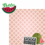 Baby Fruits: 39 Weeks Mini Watermelon 2 Piece laser Die Cut Kit