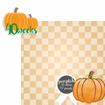 Baby Fruits: 40 Weeks Pumpkin 2 Piece laser Die Cut Kit