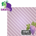 Baby Fruits: 9 Weeks Grape 2 Piece laser Die Cut Kit
