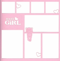 Baby Girl With Bear 12 x 12 Overlay Laser Die Cut