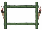 Bamboo and Tiki Torch Photo Frame Laser Die Cut