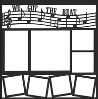 Band and Music: We Got The Beat 12 x 12 Overlay Laser Die Cut