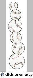 Baseball Border Laser Die Cut