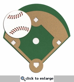 Baseball Field And Ball Laser Die Cut