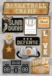 Basketball Champ Cardstock Sticker Sheet