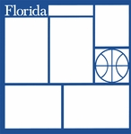 Basketball: Florida 12 x 12 Overlay Laser Die Cut-<font color=red> <b>we ♥ this</b></font>